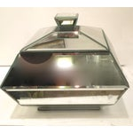 Image of Hollywood Regency Faceted Mirrored Box