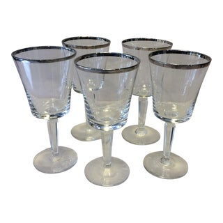 Dorothy Thorpe Mid-Century Crystal Glasses - Set of 5