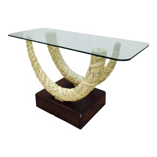 Double Faux Horn Based Console Table