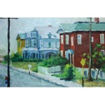 Image of Painting of a Street Scene with Victorian Houses