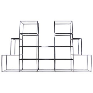 Large Scale Mid-Century Bookshelf Etagere Display