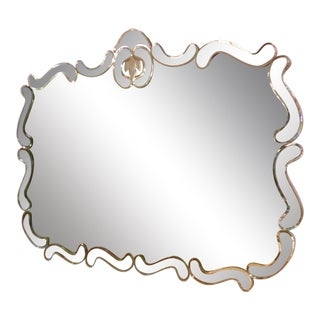 Vintage Hollywood Regency Style Wall Mirror