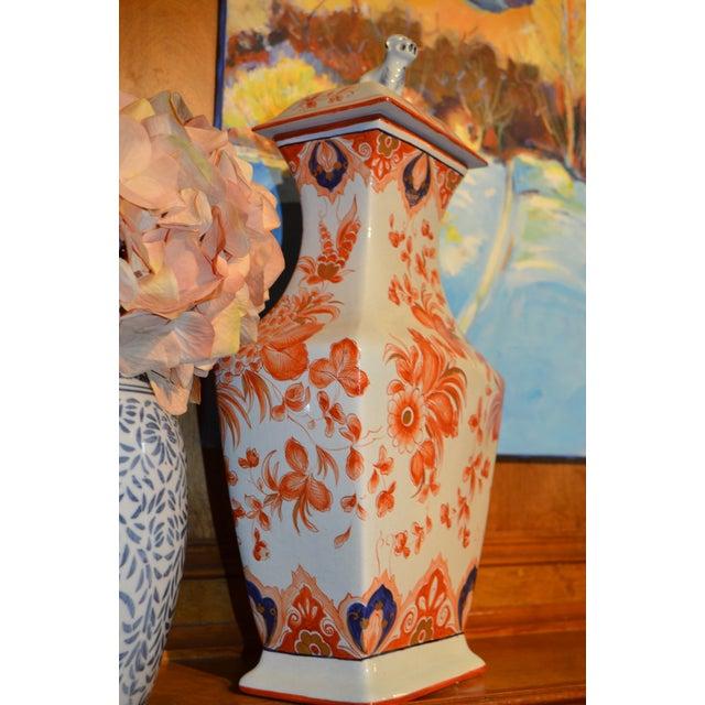 """Italian Meiselman Covered Imari Vase, 18"""" - Image 3 of 9"""
