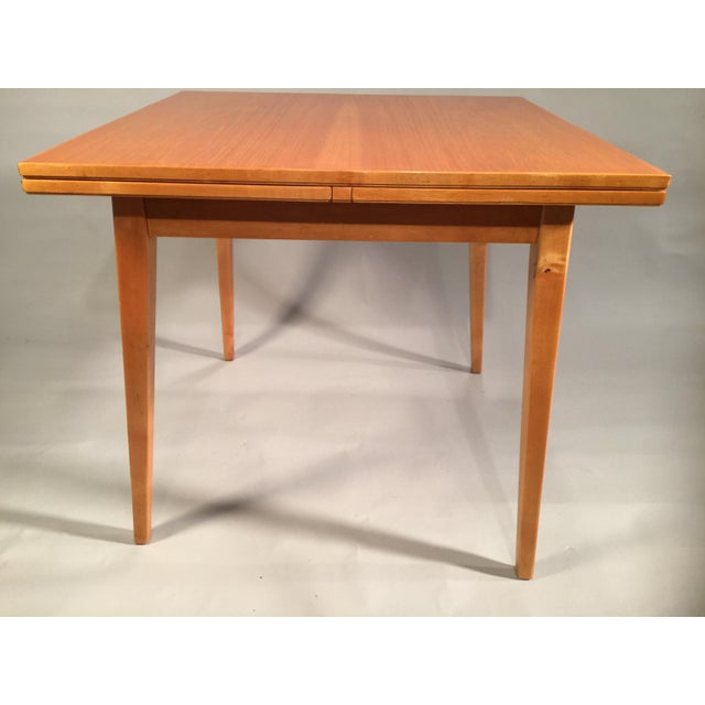 Risom-Style Birch Dining Table - Image 2 of 3