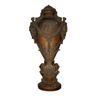 Bronze Antiqued Urn Wall Decor