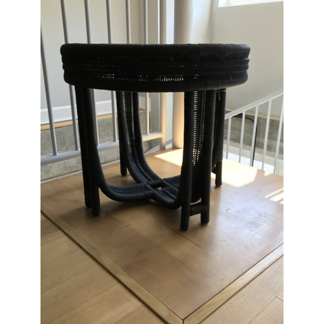 Image of Vintage Wicker Side Table