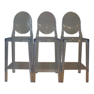Kartell Ghost Counter Stools - Set of 3