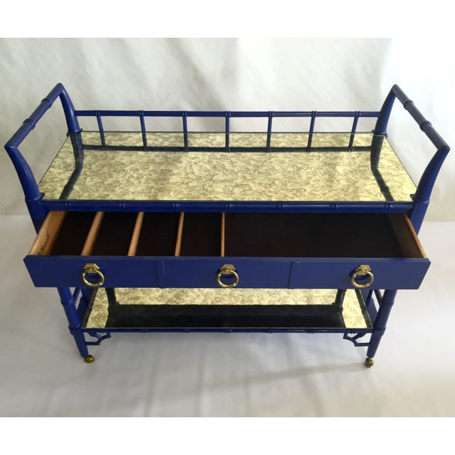 Thomasville Royal Blue Lacquered Server - Image 4 of 11