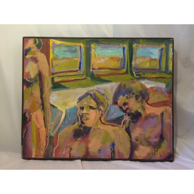 """One and Two,"" Oil Painting Circa 1966 - Image 2 of 7"
