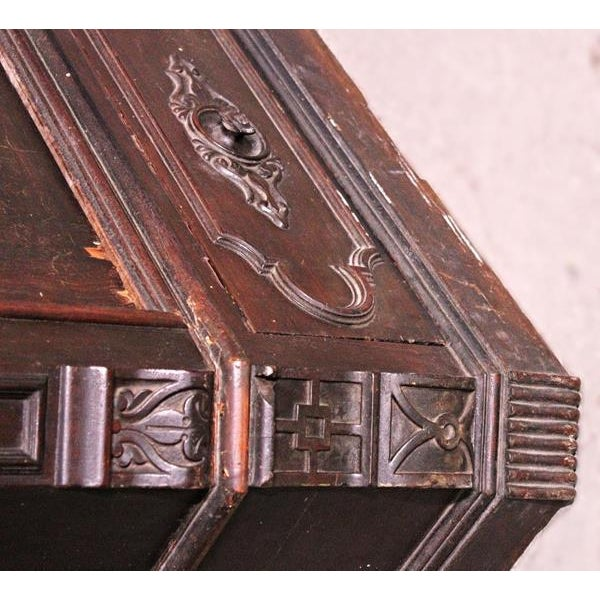 Antique Victorian American Mirrored Armoire - Image 8 of 10
