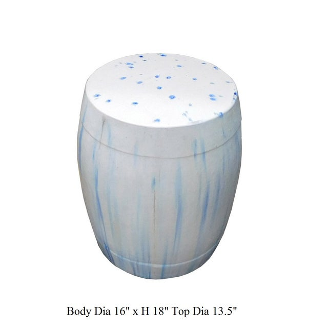 Chinese White & Blue Ceramic Garden Stool - Image 6 of 6