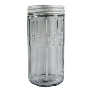Antique Hoosier Glass Pepper Shaker