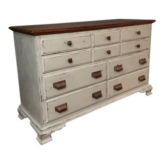 Vintage Gray Distressed Dresser