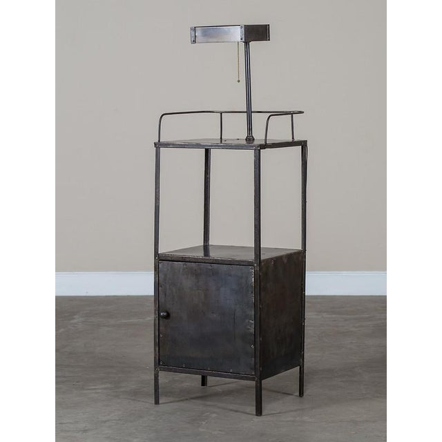 Vintage Industrial French Metal Cabinet with Light circa 1940 - Image 2 of 11