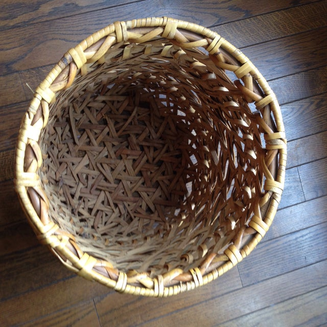 Large Vintage Rattan Planter Basket - Image 5 of 11