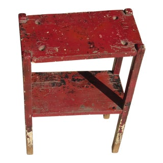 Vintage Rustic Cobbler Tool Side Table