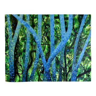"""Summertree Fantasia"" Original Acrylic Painting"