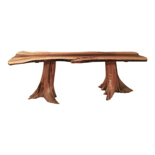 Handcrafted Spalted Maple & Black Walnut Live Edge Dining Table
