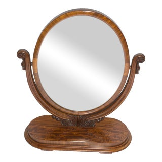 Antique Mirror on Mahogany Stand