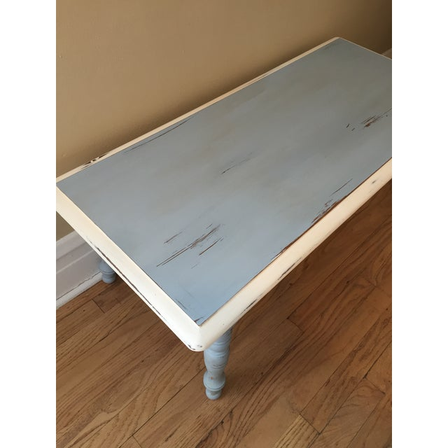 Vintage Hand Painted Coffee Table/Entryway Bench - Image 6 of 6