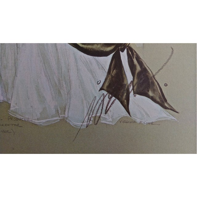 Image of The Great Sinner Velvet Draped Skirt Lithograph