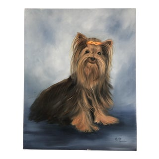 """""""My Yorkie"""" Oil Painting Portrait of Yorkshire Terrier Dog"""