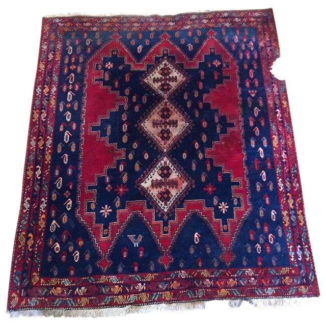 Vintage Ornate Kazak Persian Rug - 5' x 6' - Image 1 of 10