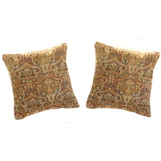 Pasargad Vintage Hand Knotted Rug Pillows - a Pair