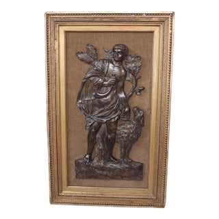 Antique Bronze Bas Relief