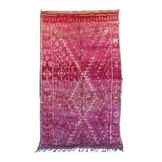 "Vintage Beni M'Guild Moroccan Rug, 6'5"" x 10'10"" feet"