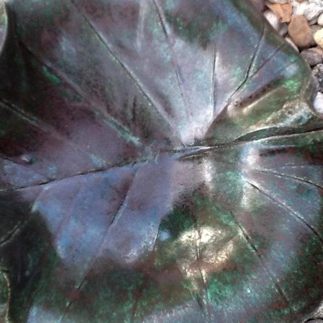 Vintage Studio Pottery Leaf Tray - Image 9 of 9