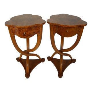 Biedermeier Side Tables with Twist Leg Bases - a Pair