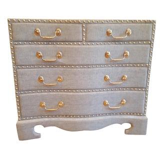 Blue Upholstered Bettina Chest