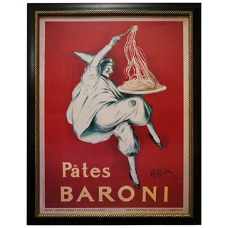 "Large-Scale Poster of ""Pates Baroni"" Ad by Leonetto Cappiello"
