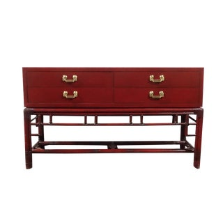 Ficks Reed Red Asian Sideboard Console
