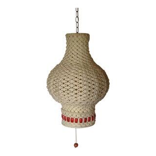 Large Vintage Macrame Moroccan Pendant Light