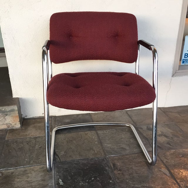 Image of Steelcase Vintage Chrome Chairs - A Pair