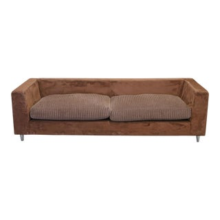 Contemporary Modern Brazilian Brown Micro Suede Sofa