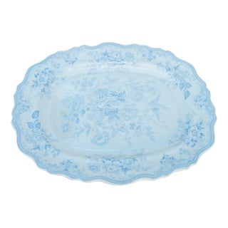Wedgwood Antique Blue Turkey Carving Platter