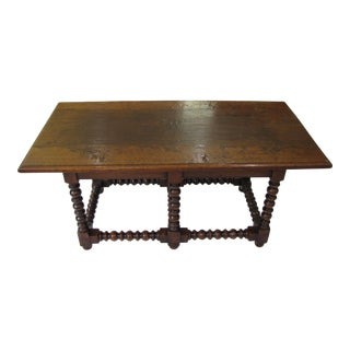 Vintage Jacobean Style Oak Coffee Table