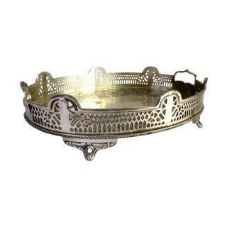 Elegant Ornate Silver Perfume Vanity Tray
