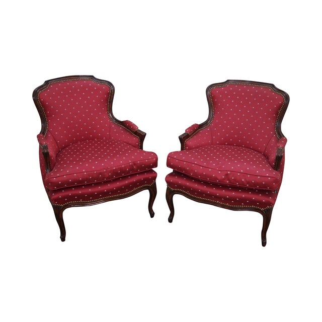French Louis XV Style Bergere Chairs - A Pair - Image 1 of 10