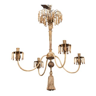 Custom Made Four Light Chandelier with Antique Elements