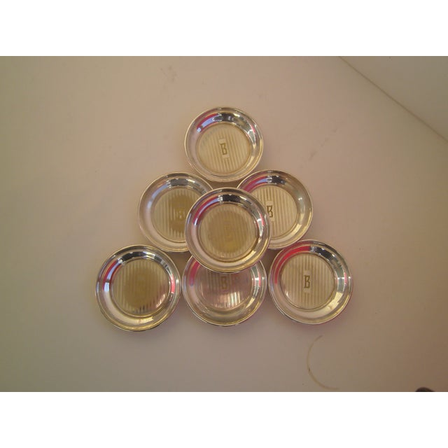 Image of English Antique s.p. Butter Pats - Set of 7