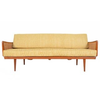 Peter Hvidt Danish Modern Teak & Cane Sofa