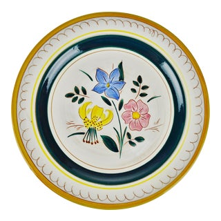"12"" Stangl Terra Rose Garden Flower Dinner Plate"