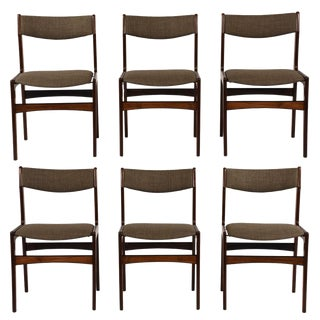 Danish Mid-Century Modern-Style Dining Chairs - Set of Six