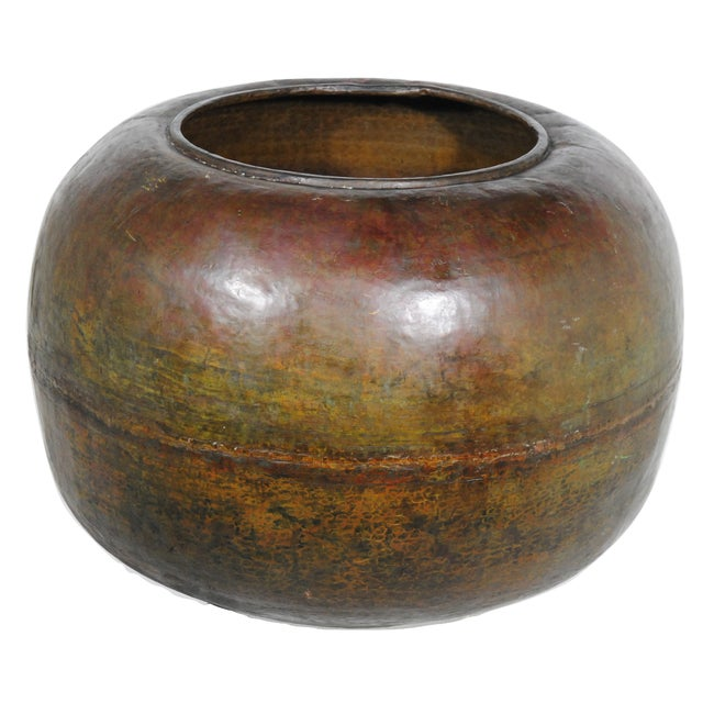 1960s Oversize Mexican Copper Pot - Image 1 of 4