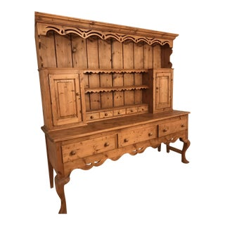 French Country Wooden Hutch