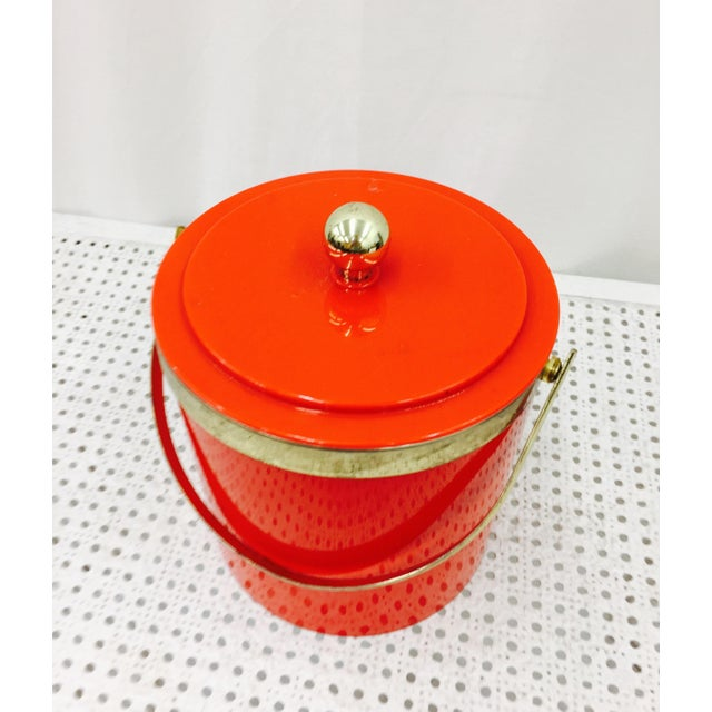 Vintage Red & Gold Ice Bucket - Image 6 of 10